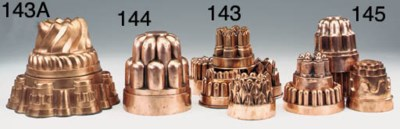 A Victorian copper jelly mould