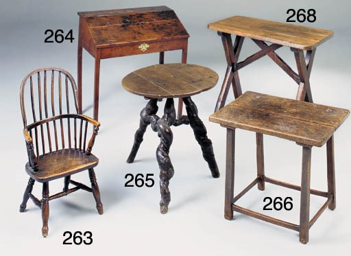 A PINE TAVERN TABLE, ENGLISH,
