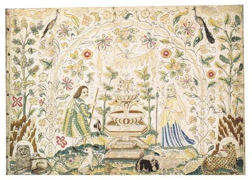 A NEEDLEWORK PICTURE, ENGLISH,