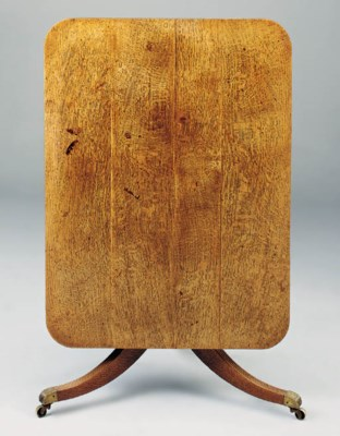 AN OAK BREAFAST TABLE, ENGLISH