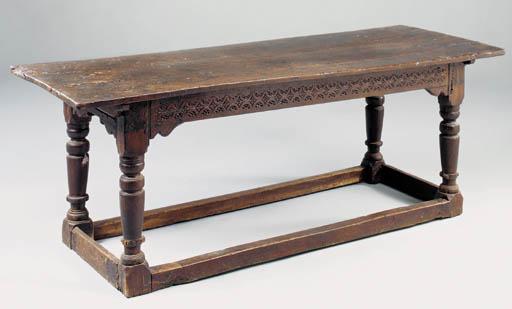 A OAK REFECTORY/SERVING TABLE,