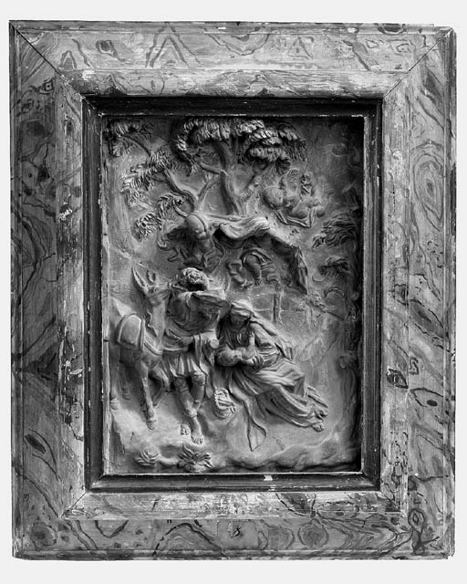 A FRENCH TERRACOTTA RELIEF DEP