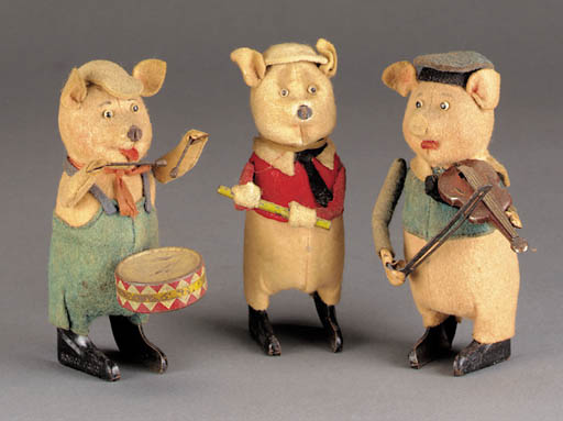 Schuco 'Three Little Pig' Figures