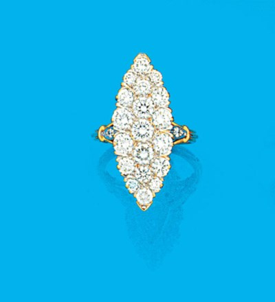 A French, diamond ring,