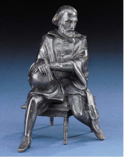 A bronzed-spelter figure of a