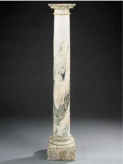 A breche violete marble pedest