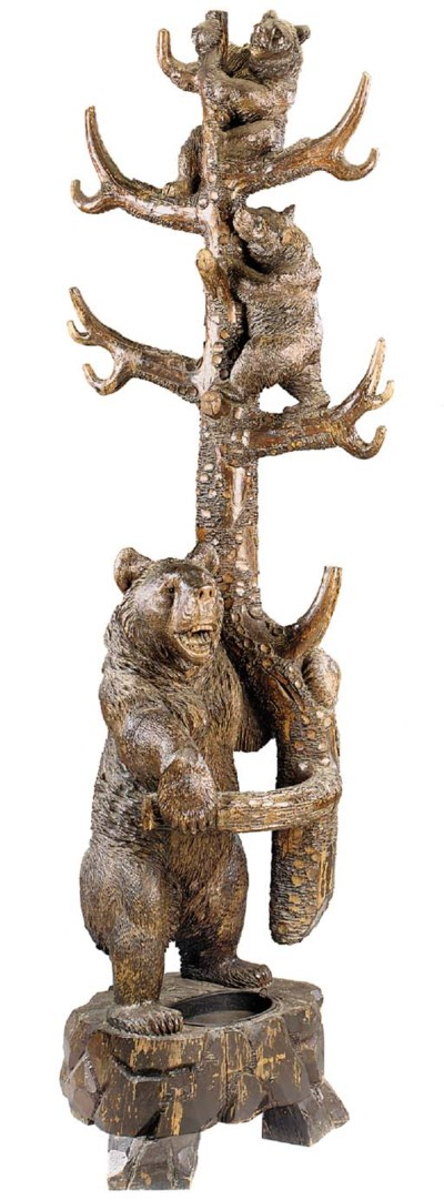 A large Black Forest carved an