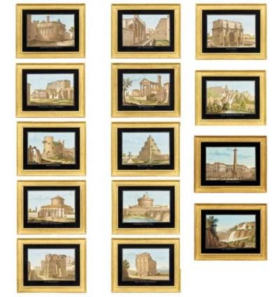 A set of fourteen Italian goua