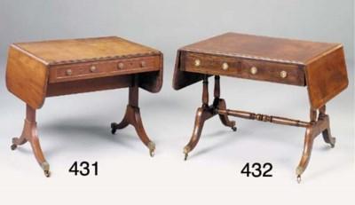 A MAHOGANY SOFA TABLE, 19TH CE