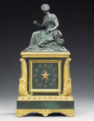 A Charles X bronze and ormolu