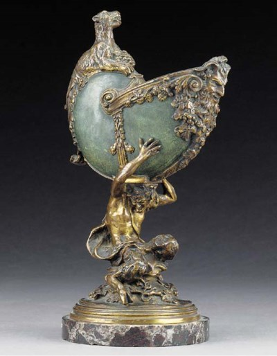 A French bronze centrepiece, l
