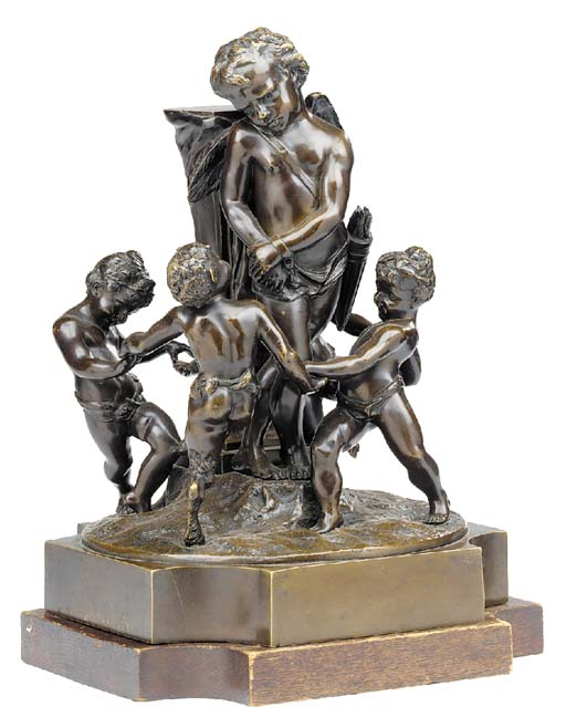 A French bronze figural group, late 19th century