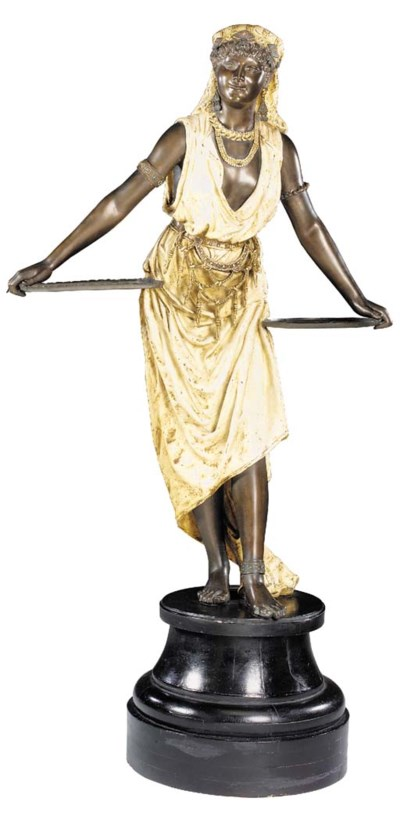 A French spelter and polychrom