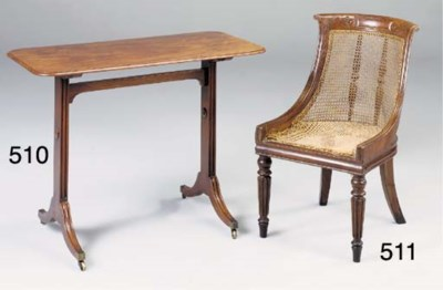 A REGENCY MAHOGANY WRITING OR