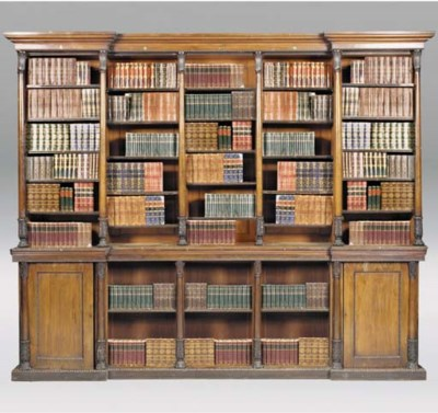 A REGENCY ROSEWOOD LIBRARY BOO