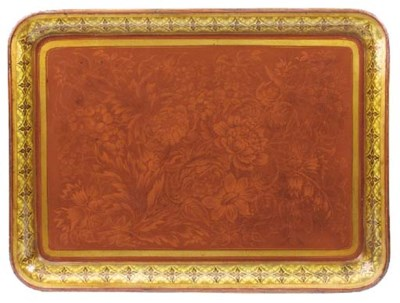 A Regency polychrome lacquered