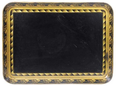 A Regency papier mache tray, e