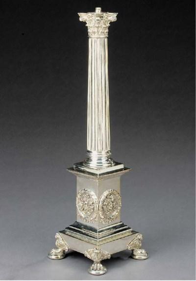 An silvered bronze corinthian