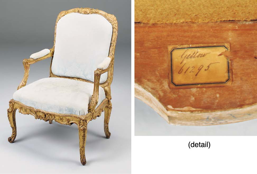 A CARVED GILTWOOD FAUTEUIL A LA REINE, 19TH CENTURY, in the early Louis XV style