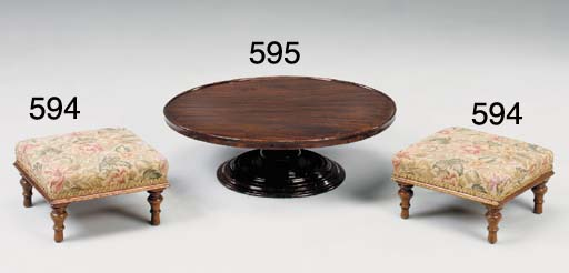 A VICTORIAN MAHOGANY 'LAZY SUSAN' OF LARGE SIZE