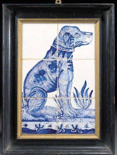 A Delft blue and white tile pa