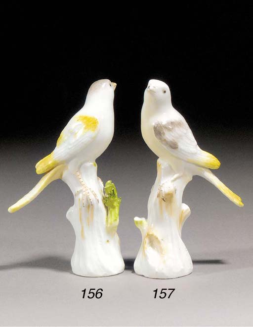 A Meissen model of a canary