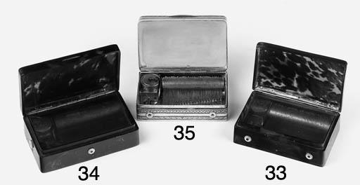 A musical snuff-box,