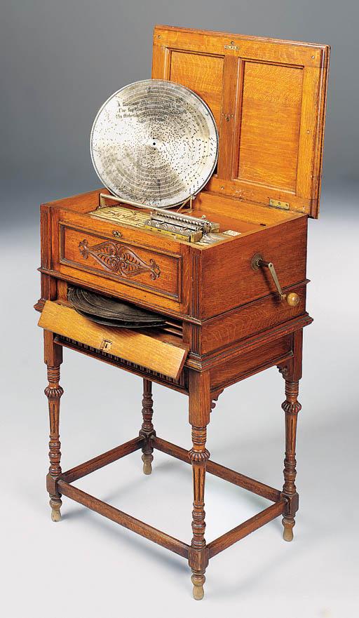 A Stella 17¼-inch disc musical box,