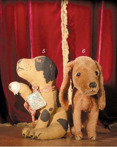 A Steiff Treff mournful dog