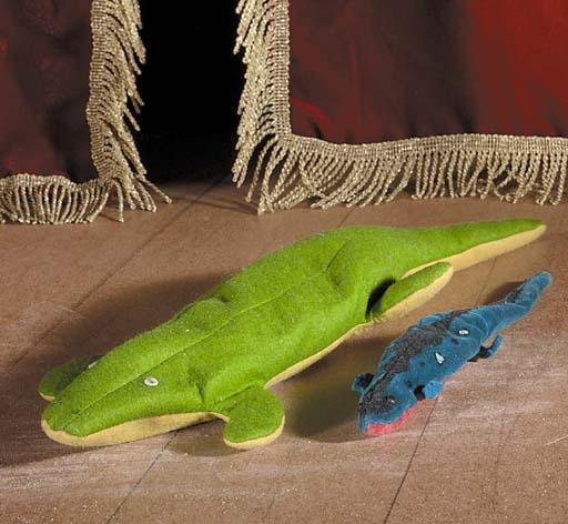 A rare Schuco sand toy Salamander