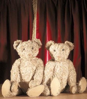 A pair of American teddy bear