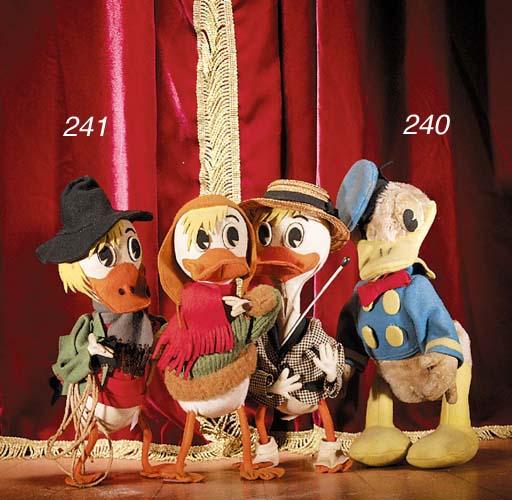 Three Italian felt ducks