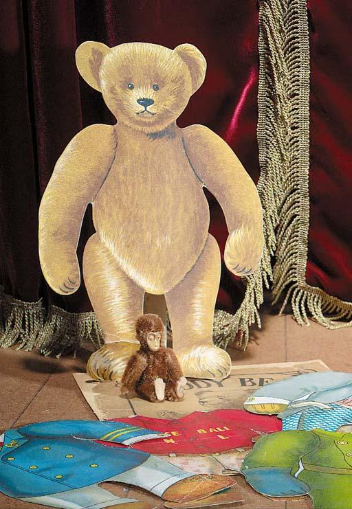 A rare Teddy Bear paper doll