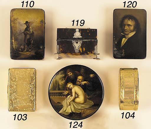 A Victorian 18ct gold snuff bo