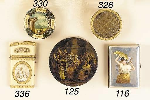A Louis XVI lacquer bonbonnier