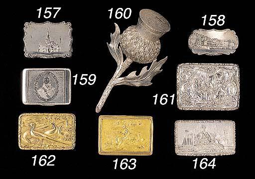 A George IV silver-gilt vinaig