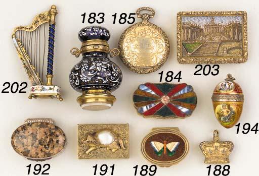 A George IV parcel gilt vinaig