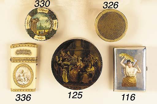 A LOUIS XVI GOLD-MOUNTED COMPO