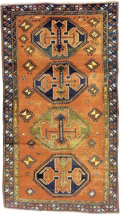 An unusual antique Kazak rug, South Caucasus