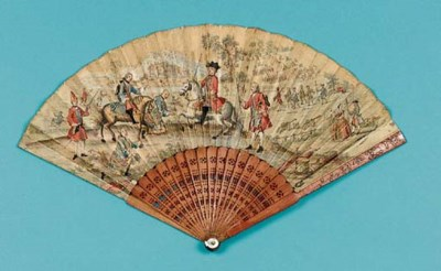 A Culloden Fan, the leaf a han
