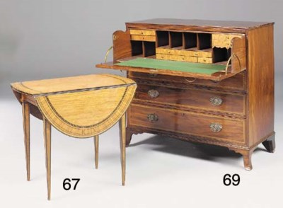 A George III mahogany and cheq