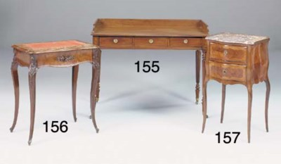 A MAHOGANY WRITING/DRESSING TA