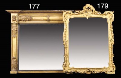 A CARVED GILTWOOD AND GESSO WA