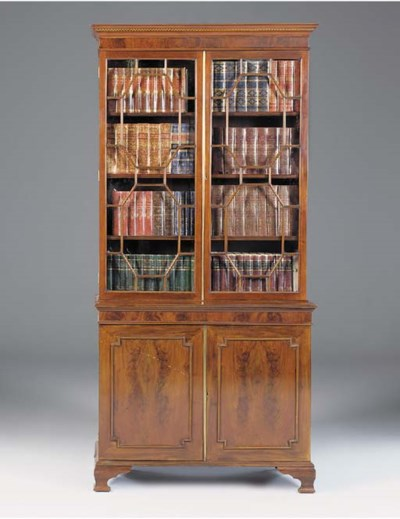 A mahogany bookcase, 20th cent