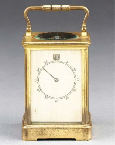 An unusual French gilt-brass d