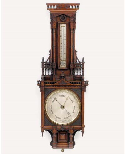 A Victorian mahogany barometer
