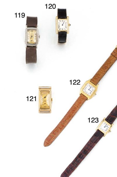 CARTIER, A LADY'S 18CT GOLD WR