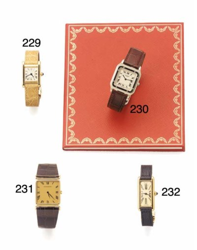 CARTIER, A LADY'S RARE GOLD RE