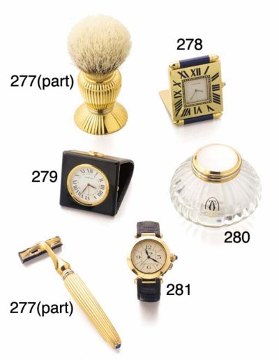 CARTIER PASHA RAZOR AND BRUSH