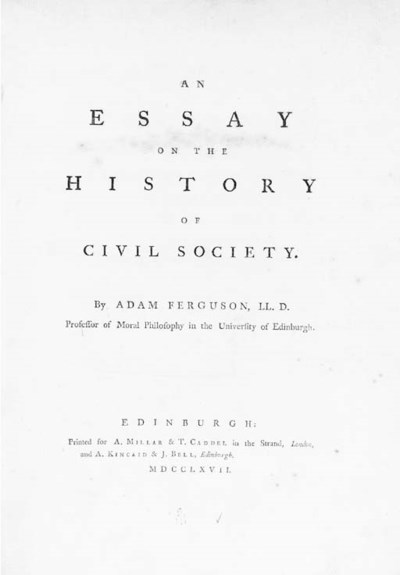 FERGUSON, Adam (1723-1816). An